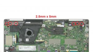 Unscrew and remove display assembly (6 x M2.5 x 5mm).