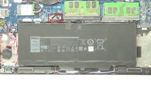 Unscrew and disconnect Battery (2 x