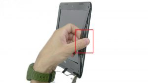Use fingers to pry apart and remove Display Bezel.