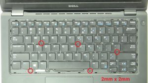 Unscrew and remove Keyboard (5 x