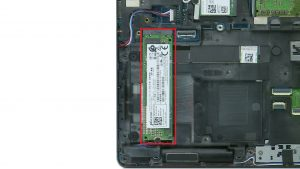 Unscrew and remove M.2 SSD (1 x