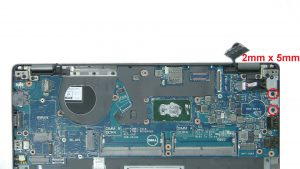 Remove motherboard screws and bracket (3 x M2 x 3mm)(2 x
