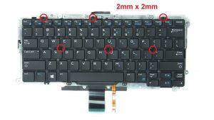 Unscrew and remove Keyboard (6 x
