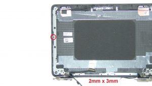 Unscrew and remove Left Display Hinge (2 x