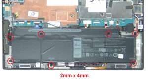 Unscrew and disconnect Battery (7 x