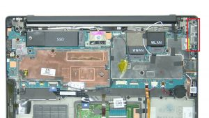 Unscrew and remove Motherboard (6 X 1.6mm x 2.5mm).