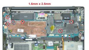 Unscrew and remove bracket (2 x M2 x 4mm).