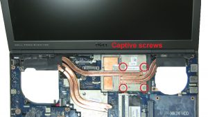 Unscrew and remove GPU Heatsink (captive screws).