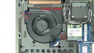 Unscrew and disconnect GPU Cooling Fan (2 x