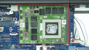 Unscrew and remove GPU (2 x