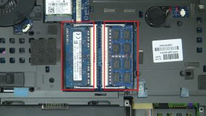Pull apart clips and remove Memory.