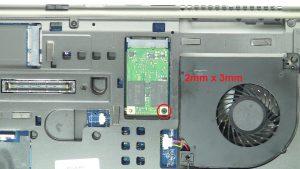 Unscrew and remove MSATA SSD (1 x