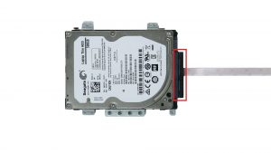 Disconnect hard drive adapter.