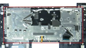 Unscrew then remove bracket and Keyboard (33 X 1.2mm x 2mm).