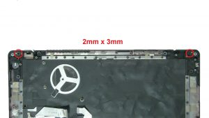 Remove bottom and back display assembly screws (2 x M2 x 3mm) (2 x