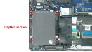 Unscrew and disconnect Hard Drive (Captive screws).