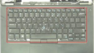 Remove keyboard screws (5 x M2 x 3mm).