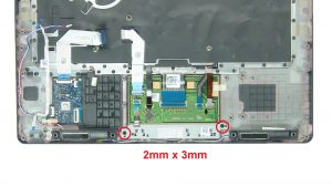 Unscrew and remove mouse buttons (2 x M2 x 3mm).