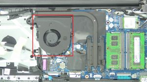 Unscrew and disconnect Cooling Fan (3 x