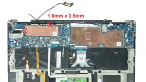 Unscrew then remove bracket and M.2 SSD (2 X 1.6mm x 2.5mm).