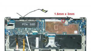 Remove motherboard screws (1 X 1.6mm x 2.5mm) (7 X 1.6mm x 2.5mm).