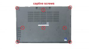 Loosen captive screws.