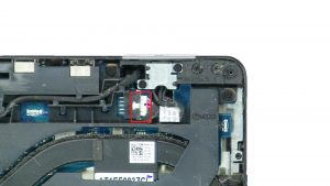 Unscrew then remove bracket. Disconnect DC Jack (2 x