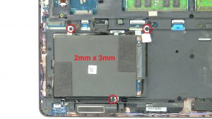 Unscrew and disconnect Hard Drive (3 x