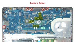 Unscrew and remove Motherboard (5 x