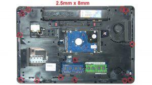 Unscrew Palmrest (3 x M2.5 x 5mm) (13 x