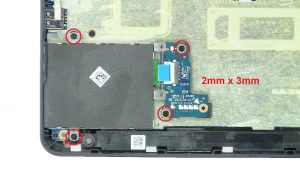 Unscrew and remove Express Card Cage (4 x M2 x 3mm).