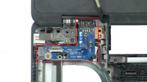 Unscrew and remove Left I/O Board (1 x