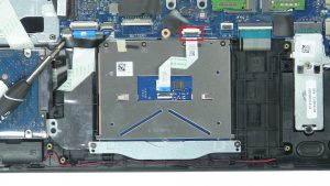 Unscrew and disconnect Touchpad (6 x