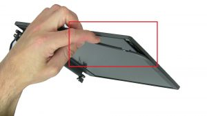 Use fingers to pry apart and remove Bezel.