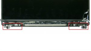 Unscrew and remove Display Hinges (4 x M2.5 x 5mm).