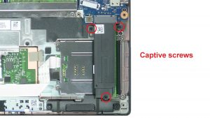 Unscrew then remove bracket and M.2 SSD (3 x Captive screws).