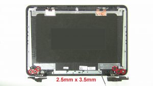 Unscrew and remove Display Hinges (6 x M2.5 x 3.5mm).