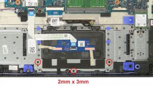 Unscrew and disconnect Touchpad (3 x