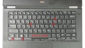 Unscrew and remove Keyboard.