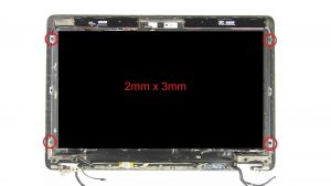 Unscrew and turn over LCD Panel (4 x