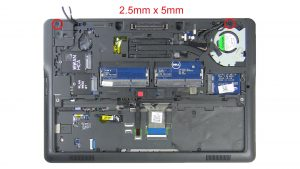 Unscrew and remove Display Assembly (5 x M2.5 x 5mm).