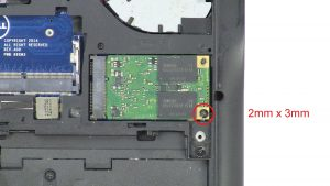 Unscrew and remove MSATA SSD (1 x