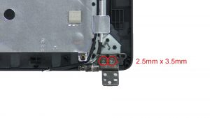 Unscrew and remove Display Hinges (4 x