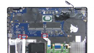 Unscrew and disconnect Motherboard (4 x M2 x 3mm).