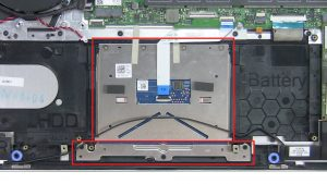 Unscrew and disconnect Touchpad (4 x