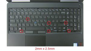 Unscrew and disconnect Keyboard (2mm X 2.5mm).