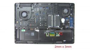 Remove bottom base screws (1 x M2 x 3mm) (1 x