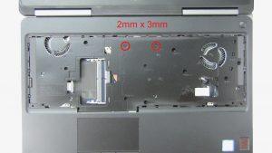 Remove palmrest screws (9 x M2.5 x 5mm) (2 x