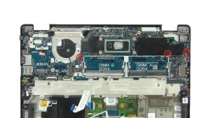 Unscrew and remove Motherboard (3 x