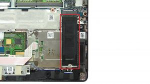 Unscrew bracket and remove Solid State Drive (2 x